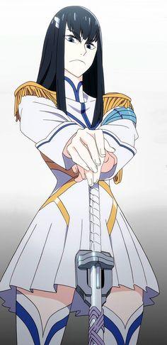 Kill La Kill, Satsuki Kiryuin, Gurren Lagann, Chica Anime Manga, Animes Wallpapers, Anime Characters, Cosplay Characters, Game Art, Art Reference