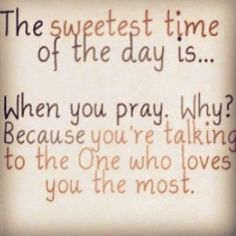 Love this! Prayer is truly that conversation that always leaves with a sense of peace :)