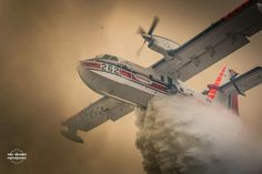 Trey Spooner Photography. Aero lite Super Scooper fights Range Fire in Kern County,  California.
