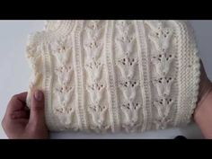 Lace Knitting Patterns, Knitting Designs, Knit Vest Pattern, Knitting Videos, Crochet Videos, Irish Crochet, Diy Crochet, Diy Crafts Knitting, Garter Stitch