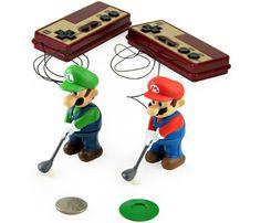 Golfing Mario and Luigi
