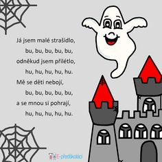 Strašidlo - básnička Pumpkin Crafts, Halloween Party, Preschool, Songs, Education, Learning, Kids, Fictional Characters, Manualidades