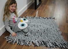 Amazing Crochet Owl Hooded Blanket Pattern
