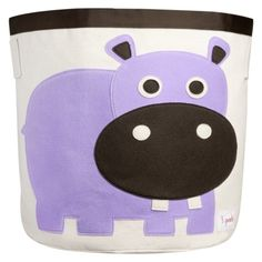 3 Sprouts Storage Bin Hippo - Target.... might be cute to have 3-4 of these, colors and animals depending on nursery colors and baby sex!