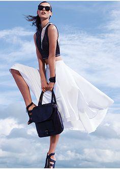 mason by michelle mason Zipper Detailing Mini Leather Skirt | Shop IntermixOnline.com