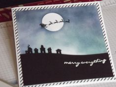 Stampin'Up Sleigh Ride edgelits dies and jingle all the way stamps. Plus lots of sponging