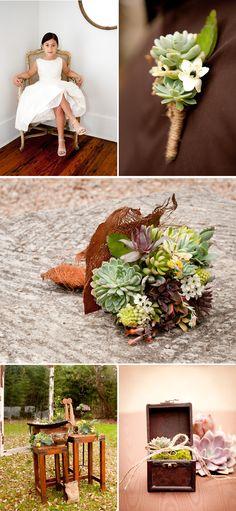 {Wedding Flowers} Sucker for succulents!