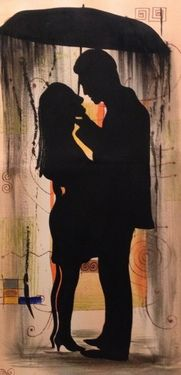 "Saatchi Art Artist Eka Peradze; Painting, "".Romance. 32x70cm.#77/7"" #art"