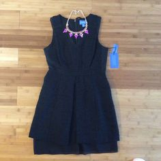 Formal Black Dress Beautiful two texture tones. For petite women. Brand new w tag Vera Wang Dresses