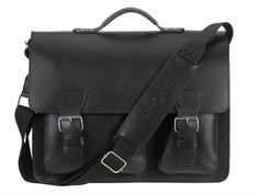 e2dfe5a4a4a33 Aktentasche mit 3 Fächern Leder Herren Damen Schultasche Lehrertasche  Businesstasche Tasche Umhängetasche schwarz