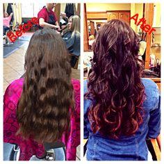 My pretty fall 2013 hair....Red Ombré