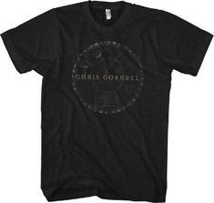 6b1630a71eef65 Chris Cornell T-shirt - Chris Cornell Solar System Logo. Men s Black Shirt
