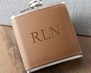 Personalized 6 oz. Leather Flask  Swanky gifts 🎁 #ad #Personalized