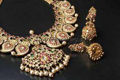 Jewellery Designs: Mango Mala with Peacock Jumkis