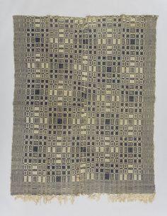 wool + cotton | 227 cm x 187 cm | Ontario area, Canada | c. 1840-'60