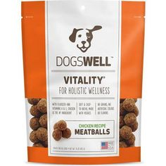 DOGSWELL VITALITY MEATBALLS CHICKEN RECIPE 15OZ TREATS