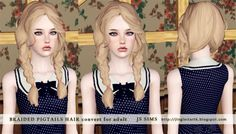 Sims 3 Finds - Braided Pigtails hair at JS Sims 3