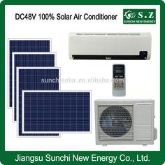Wall 12000BTU 18000BTU DC48V 100% soalr new cheapest installed residential stand alone air conditioner