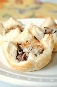 Food recipes miracle: Nutella, Banana and Coconut Puff Pastry Cups