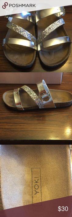 Yoki size 9 silver sandals Yoki Gian-99 silver sandals in size 9. New 6a59855d1b