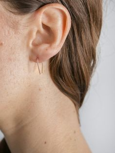 Holly Ryan's Solid 9k Gold Magnetic Field Hook Earrings are delicate small hook…