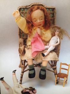 Carmina - ooak dollhouse doll by Catherine Muniere