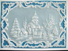 Zakątek radosnej twórczości: Bożonarodzeniowa kartka w pergamano:)