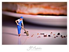 Oh Crumbs...... little man working hard sweeping up