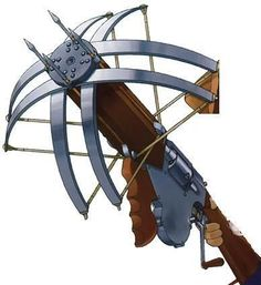 Crossbow of the Everlasting Blizzard Sci Fi Weapons, Medieval Weapons, Weapon Concept Art, Weapons Guns, Fantasy Armor, Fantasy Weapons, Medieval Fantasy, Besta, Guild Wars