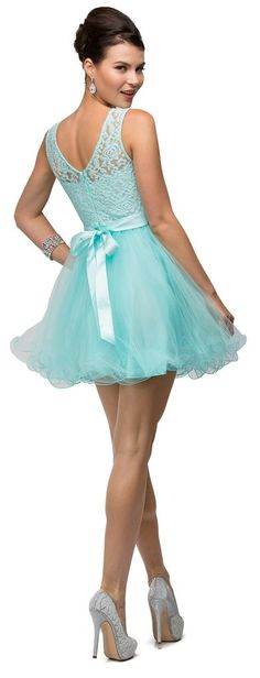Simply Gorgeous Short Sleeveless Cocktail Dress Formal Homecoming