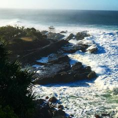 Snapper rock big swell by o_2_shine
