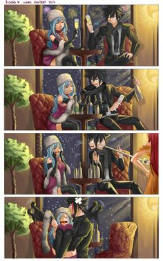 Gruvia fluff fest -Kissing In the Rain *4 koma manga series* How to make a deal with mad juvia Tumblr