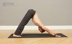 mens down dog yoga pose