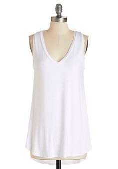 Endless Possibilities Tunic in White. Every fashionista needs pieces in her wardrobe that can be infinitely styled, and this ultra-soft, sheer white tunic promises unlimited options. #white #modcloth