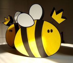 Styrofoam Bee Decoration