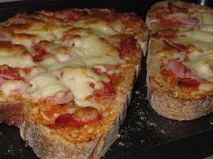 Llescas de pan Pizza