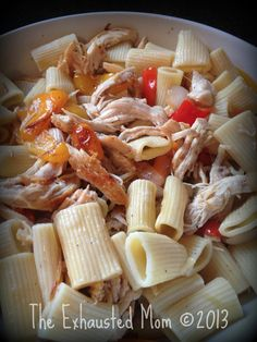 Pasta with Chicken & Peppers #SaneCooking