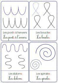 Graphisme et motifs Des cartes, des modèles et des supports à plastifier pour travailler les principaux motifs étudiés en graphisme à l'école maternelle.