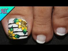 Flower Nail Designs, Nail Art Designs, Purple And Pink Nails, French For Beginners, French Nail Art, Sunflower Design, Flower Nails, Pedicure, Rings For Men