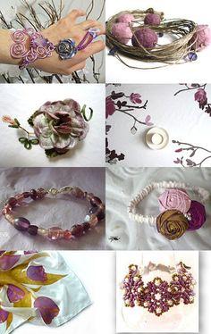 --Pinned with TreasuryPin.com Diy Accessories, Mauve, Napkin Rings, Jewellery, Etsy, Inspiration, Ideas, Decor, Biblical Inspiration
