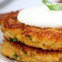 Quinoa Burger:  Per burger: Calories 132; Protein 8 g; Fat 5 g; NET Carbs 12 g; (Fiber 2 g); Sugar 0 g; Sodium 200 mg