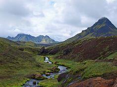 Go #trekking in #Iceland with G Adventures and enjoy hiking in Landmannalaugar.