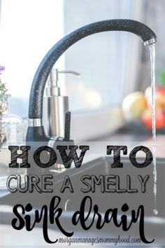 ***How To Clean A Smelly Sink Drain ~ is there a weird smell in your kitchen? It could be coming from your sink drain. Read on to learn how to cure a smelly sink drain naturally! House Cleaning Tips, Deep Cleaning, Spring Cleaning, Cleaning Hacks, Cleaning Recipes, Cleaning Supplies, Cleaning Crew, Cleaning Checklist, Homemade Toilet Cleaner