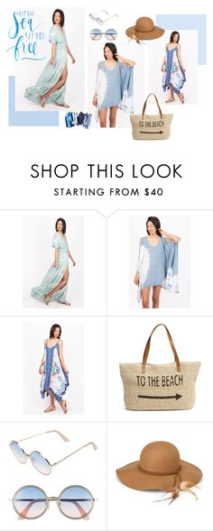"""""""Let the Sea set you Free"""" by pinkiceofficial ❤ liked on Polyvore featuring Straw Studios, Sunday Somewhere and Steve Madden"""