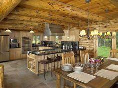 Kitchen. Log House KitchenCabin ...