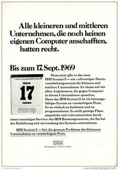Original-Werbung/ Anzeige 1969 - IBM SYSTEM / 3- ca. 180 x 240 mm