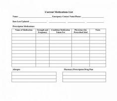 Image Result For Free Prescription List Templates