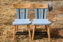 Cadou de nuntă fin: scaune reinterpretate tradițional pentru El și Ea Interior Styling, Bar Stools, Romania, Chairs, Furniture, Home Decor, Interior Decorating, Bar Stool Sports, Decoration Home