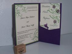 Lindsay's wedding invitation all stampin up wedding pinterest