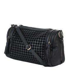 Woven Boston Bag